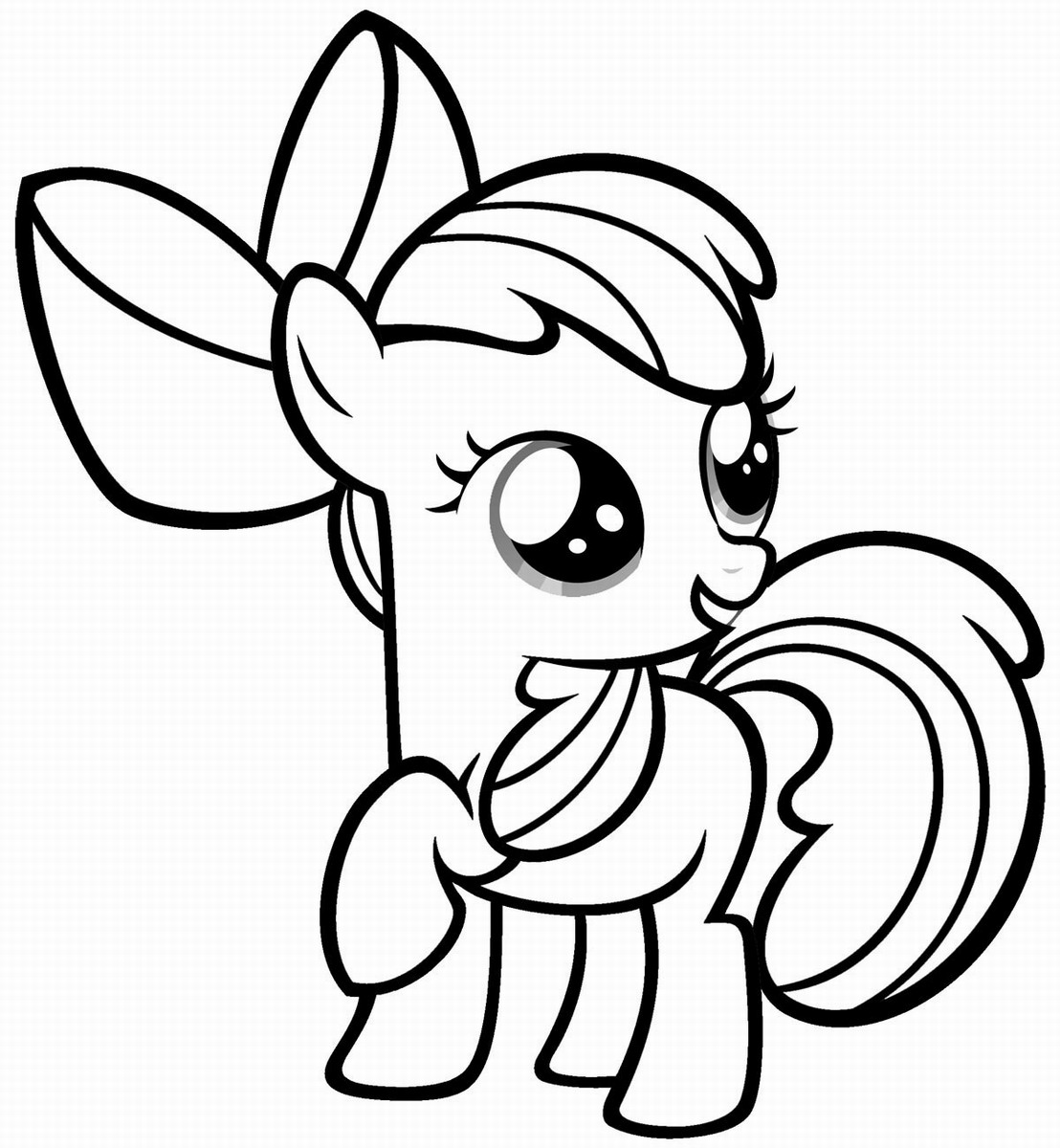 1108x1200 My Little Pony Coloring Pages