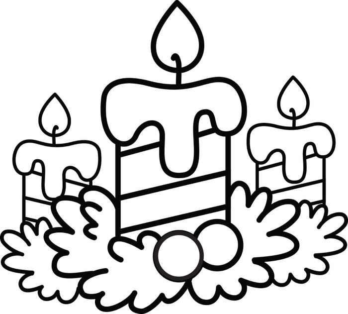 700x631 Christmas Candle Coloring Pages Preschool In Humorous Print Pict