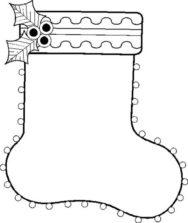 640x756 Best Easy To Color Christmas Stocking Coloring Pages Fireplace