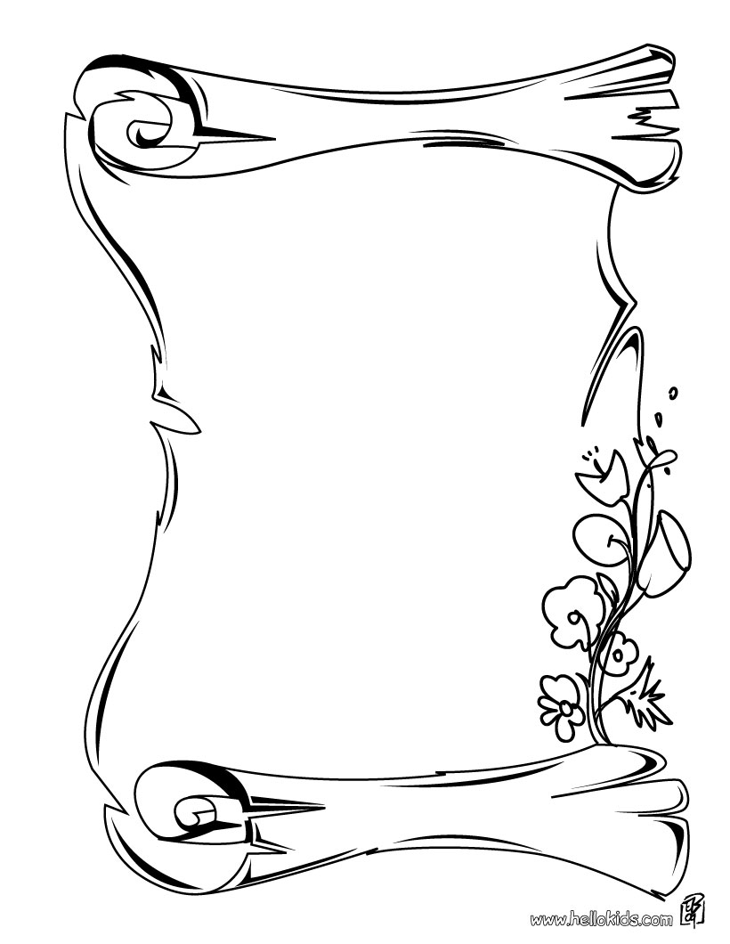 820x1060 Coloring Pages Appealing Scroll Coloring Page Vintage Pages