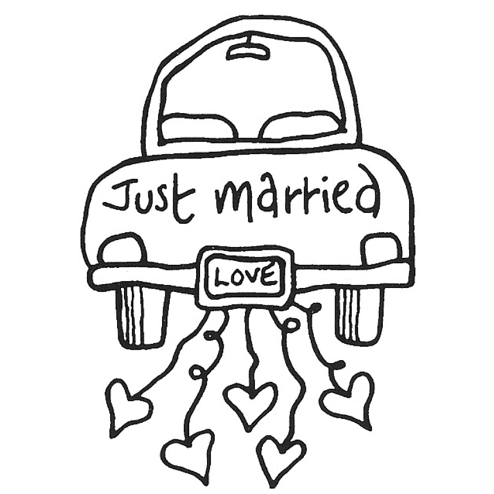1000x1000 Coloring Pages Vintage Just Married Coloring Page