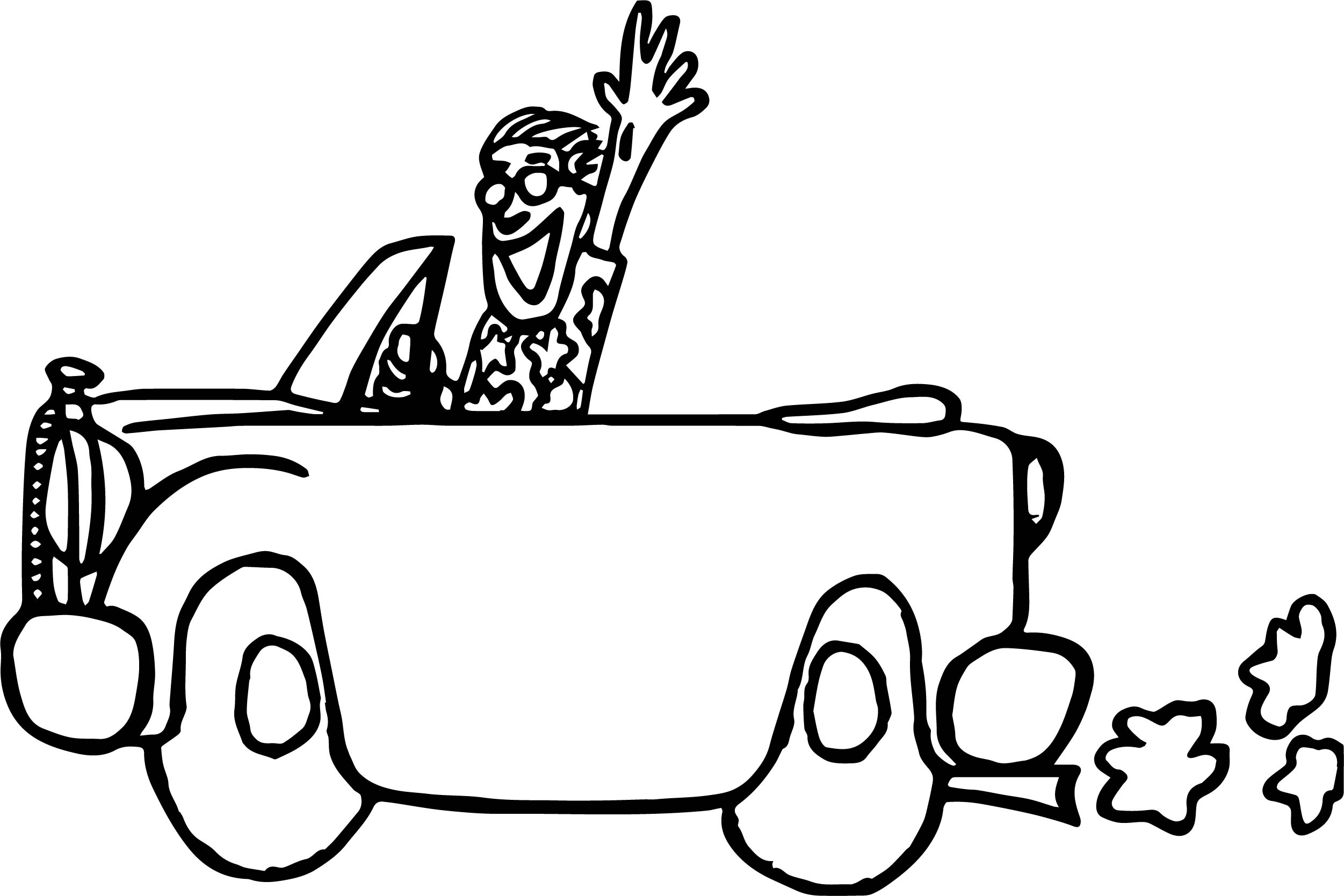 2502x1668 Vintage Antique Car Vacation Coloring Page Wecoloringpage