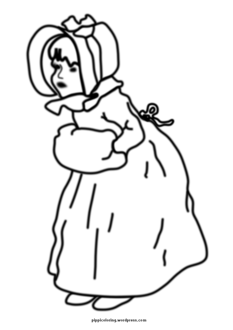 794x1123 Vintage Girl Coloring Page Pippi's Coloring Pages
