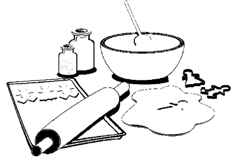 476x333 Baking Coloring Sheets Printable Cooking Pages