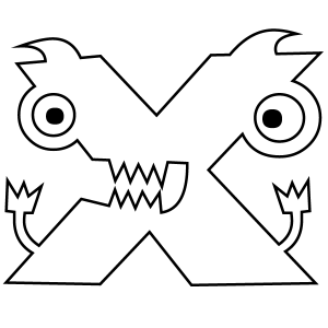300x300 Letter X Coloring Page
