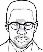 176x214 Malcolm X Coloring Pages