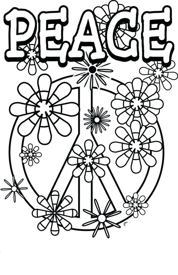 600x923 Peace Sign Coloring Pages Love X Courtesy Of Clip Art Library