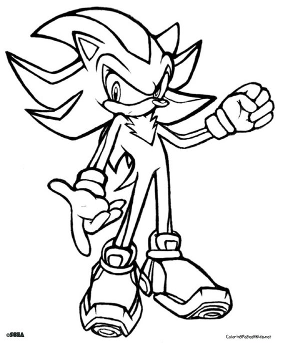 564x685 Shadow Sonic Coloring Pages Murderthestout