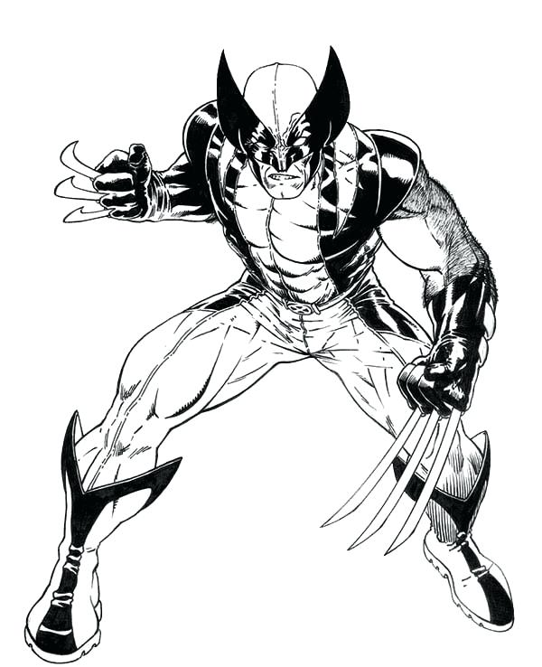 600x738 Furious Wolverine X Men Coloring Page Pages