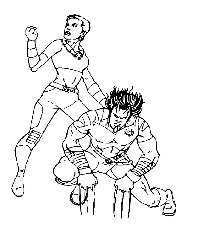 630x720 Kids N Fun.co.uk 40 Coloring Pages Of X Men