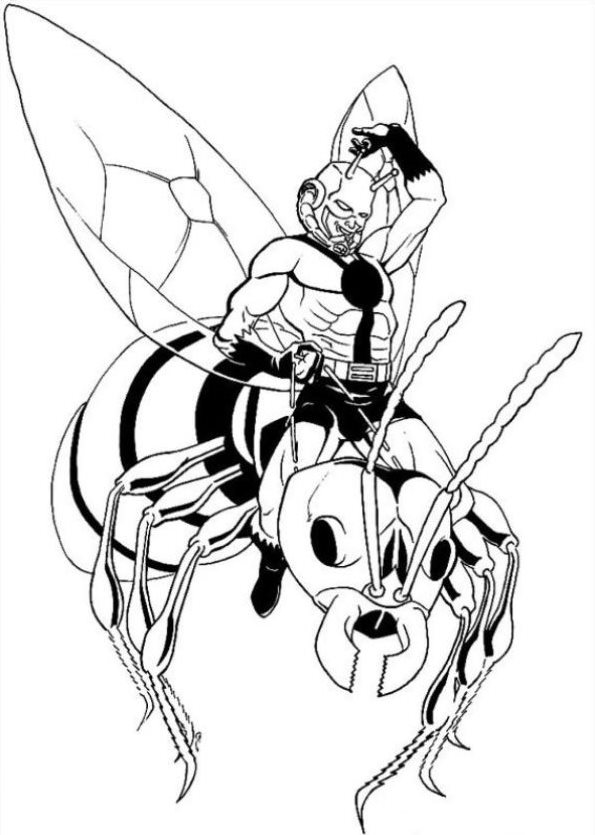 595x835 Kids N 18 Coloring Pages Of Ant Man