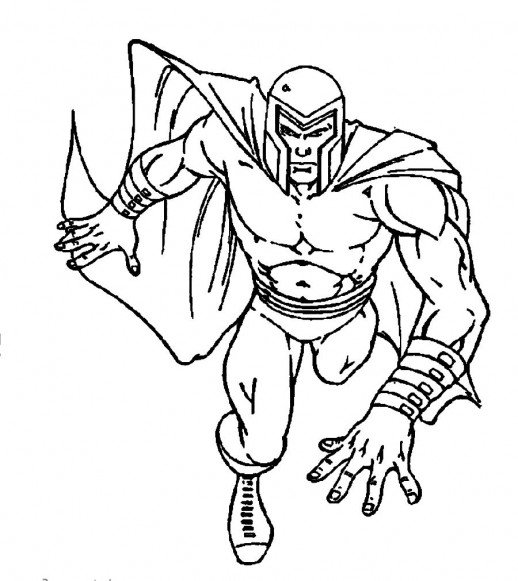 518x581 Magneto The Enemy Of X Men Members Coloring Pages