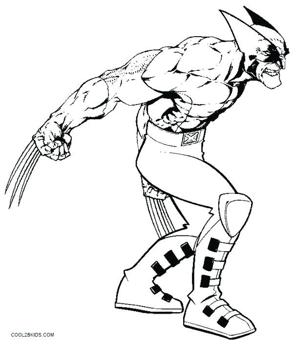600x702 Muscle Coloring Pages X Men Wolverine Coloring Pages Free