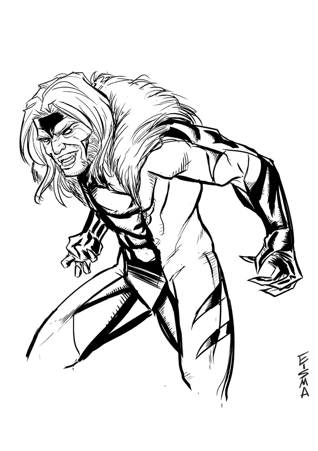 saber tooth coloring pages | Coloring Pages X Men | Free download best Coloring Pages X ...