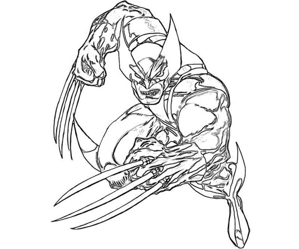 1024x854 Wolverine Coloring Pages