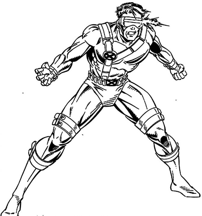 671x715 Coloring Pages Cyclops Coloring Page X Men 09 Pages Cyclops