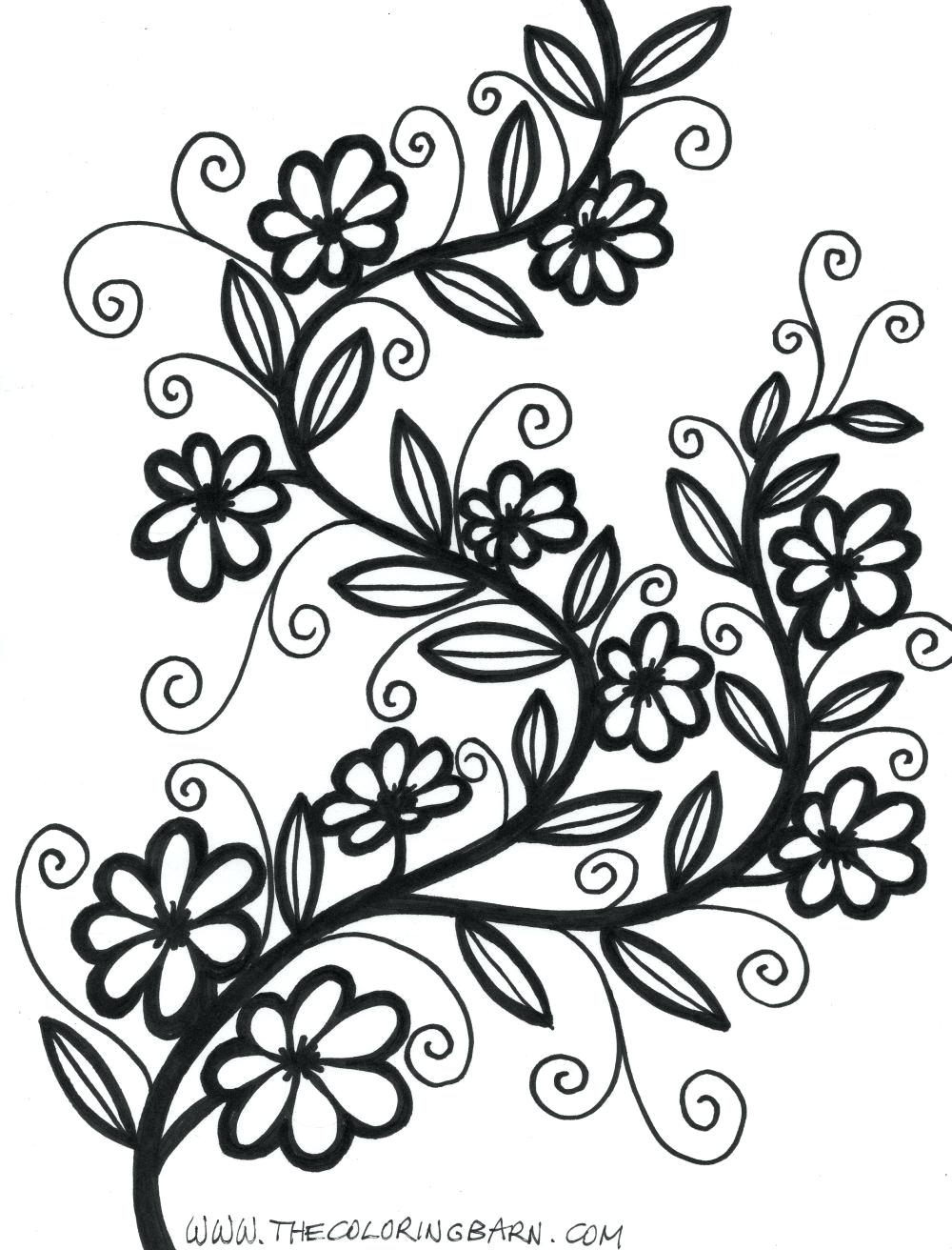 1000x1312 beautiful flower coloring pages for adults inspirational 59