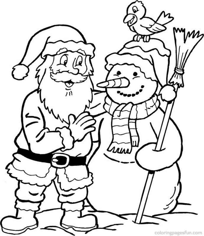 690x800 Christmas Santa Claus Coloring Pages 39 Free Printable Coloring