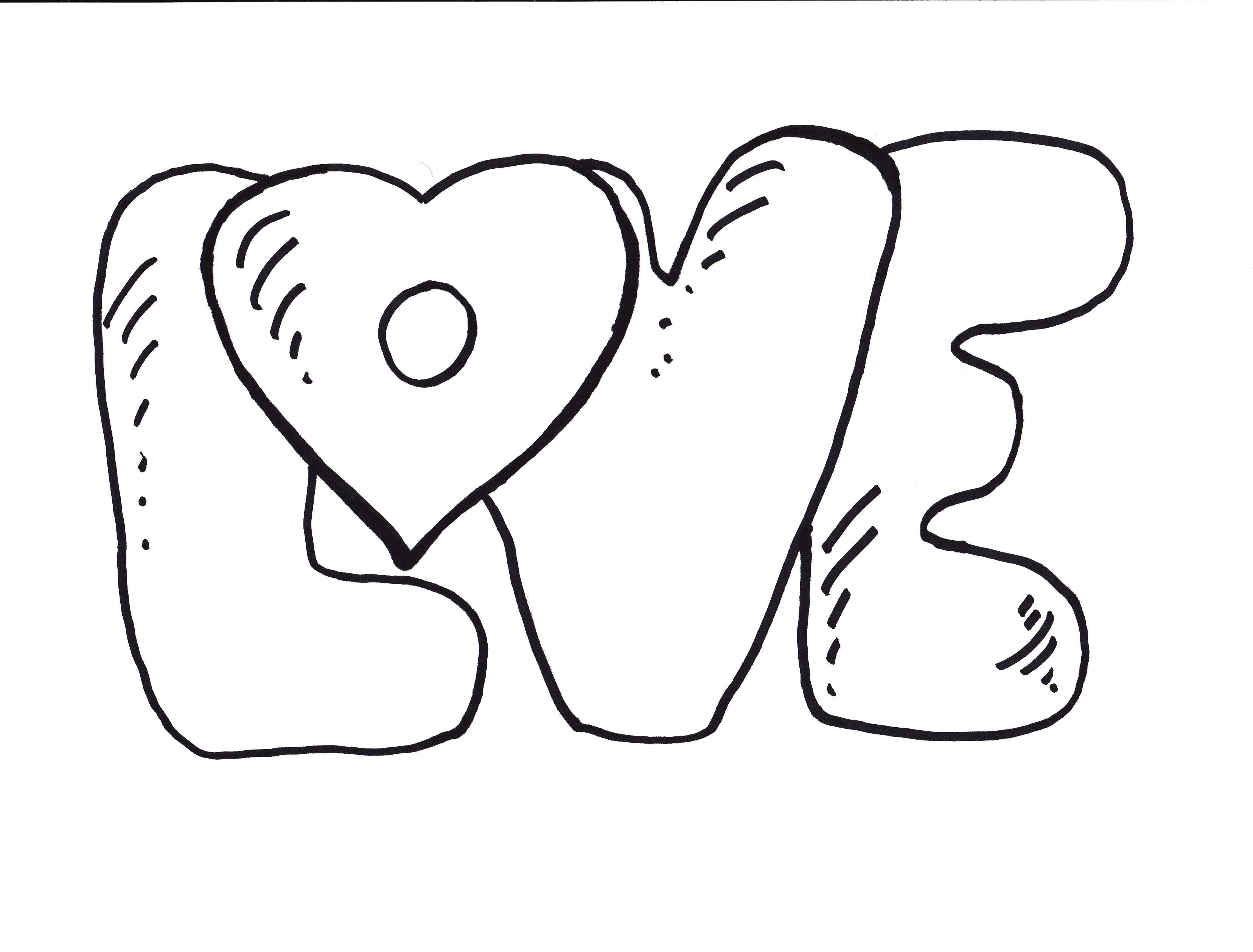 3312x2516 Coloring Pages Of The Word Love About Webonize