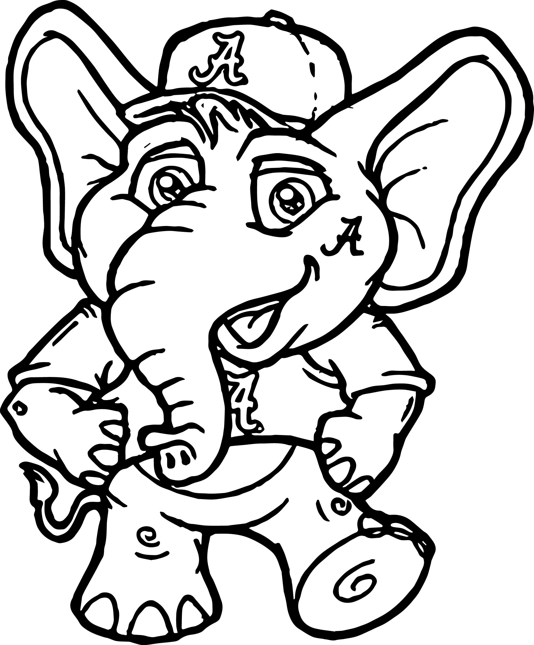 2080x2515 alabama clipart university of alabama a text coloring page color