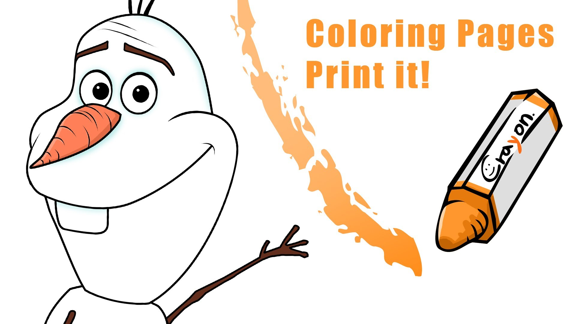 1920x1080 How To Draw A Olaf From Frozen. (Create A Coloring Pages)