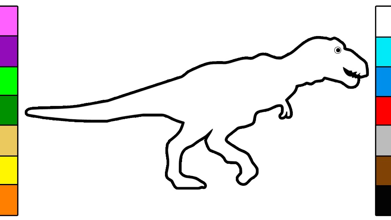 1280x720 T Rex Coloring Pages For Preschoolers T Rex Coloring Pages