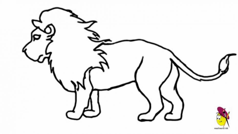 974x548 Coloring Pages Easy Drawing Of A Lion 5 Coloring Pages Easy
