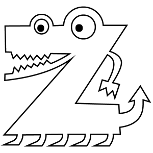 300x300 Letter Z Coloring Page