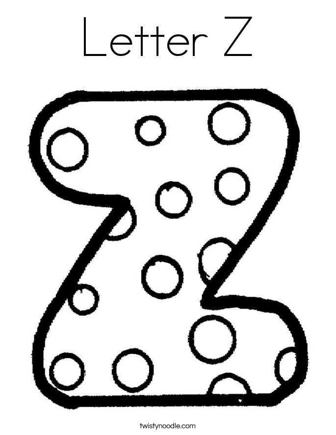 685x886 Letter Z Coloring Pages