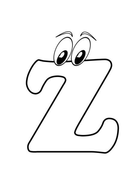 460x650 Letter Z Coloring Pages 6 Nice Coloring Pages For Kids