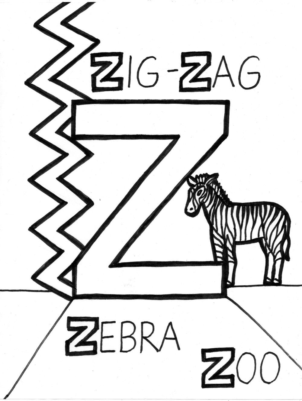 1000x1327 Letter Z Coloring Pages To Download And Print For Free