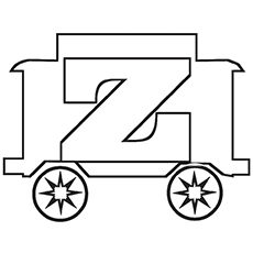 230x230 Top 10 Free Printable Letter Z Coloring Pages Online
