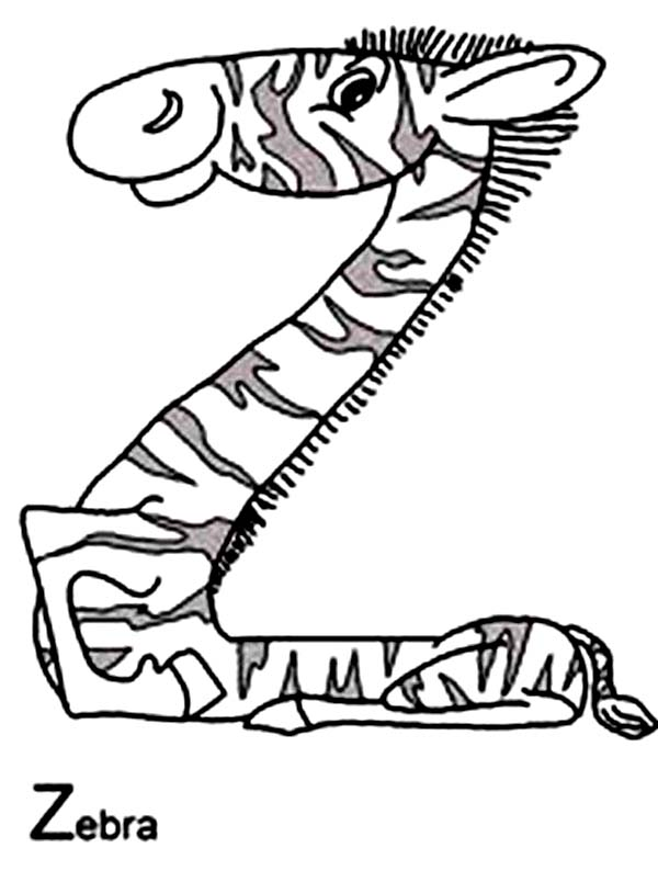 600x794 Alphabet With Animals Coloring Pages Z Is For Zebra Batch Coloring