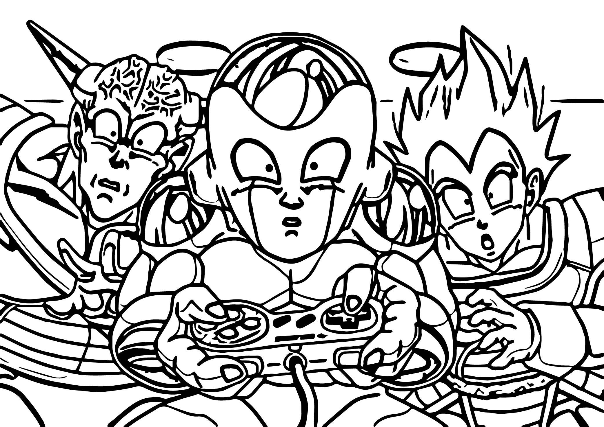 2084x1476 Cartoon Comic Dragonball Z Controller Super Nintendo Coloring Page