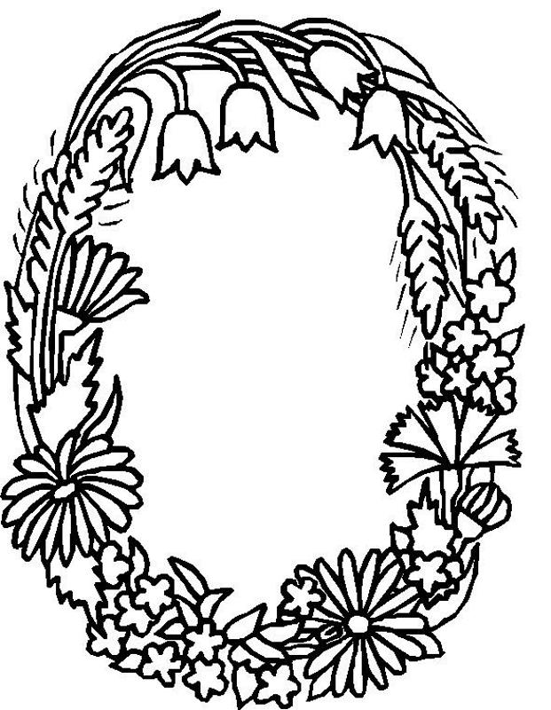 621x800 Alphabet Flower O Coloring Pages Zen Abc Flower