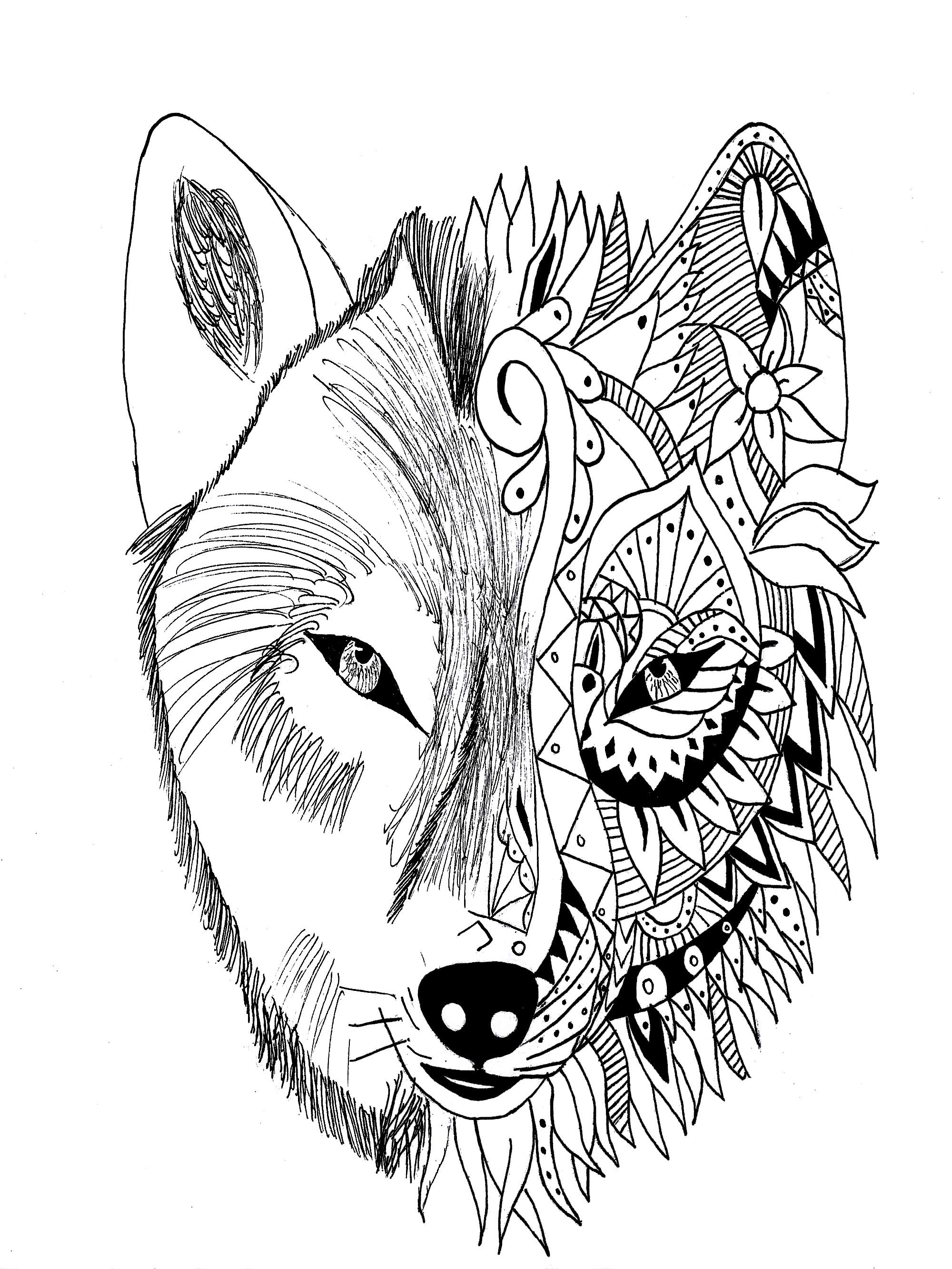 2000x2665 Tattoo Wolf Krissy Tattoos
