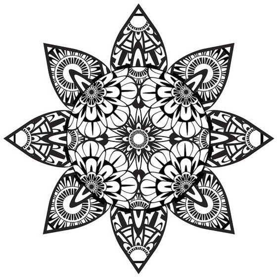 560x560 Top 16 Zentangle Flower Coloring Pages