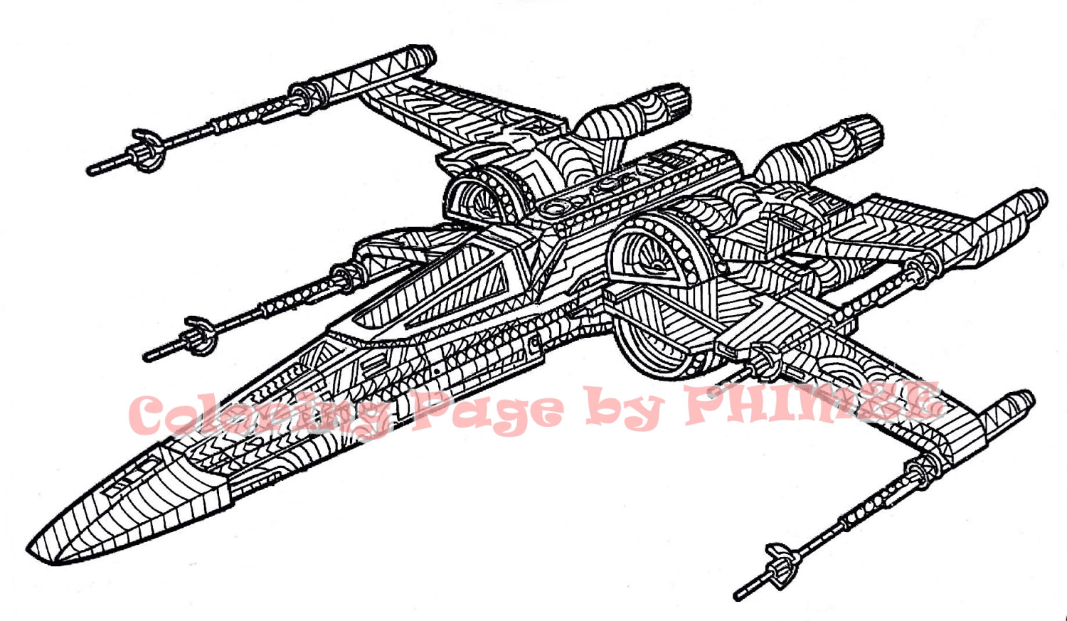 1500x873 X Wing Starfighter Star Wars Star Wars Coloring Page