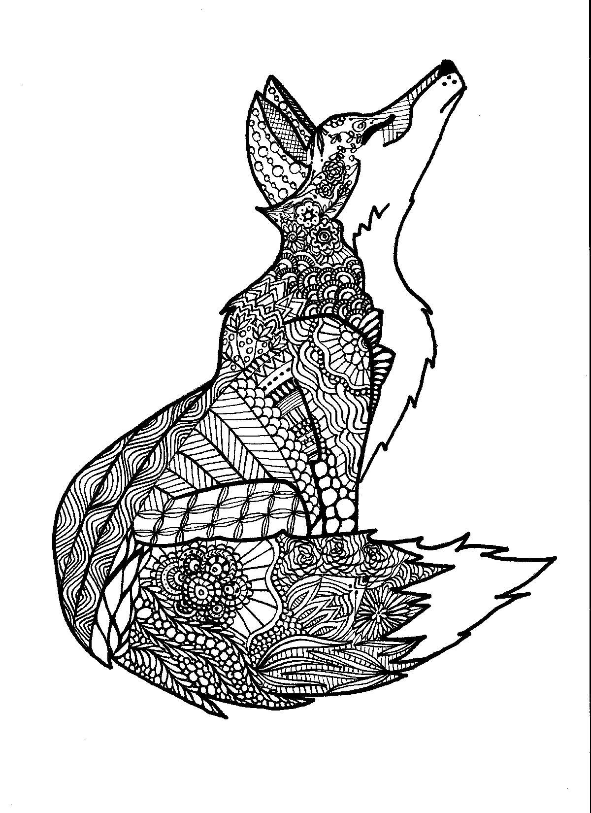 Coloring Pages Zentangle Free