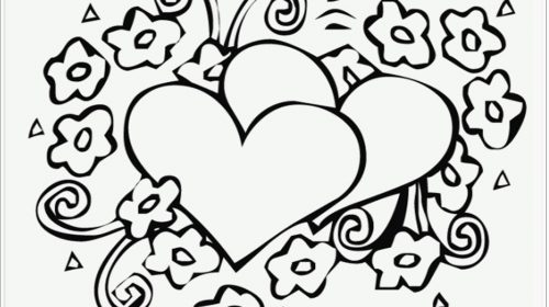 500x280 Best Of Free Printable Heart Coloring Pages Coloring Pages
