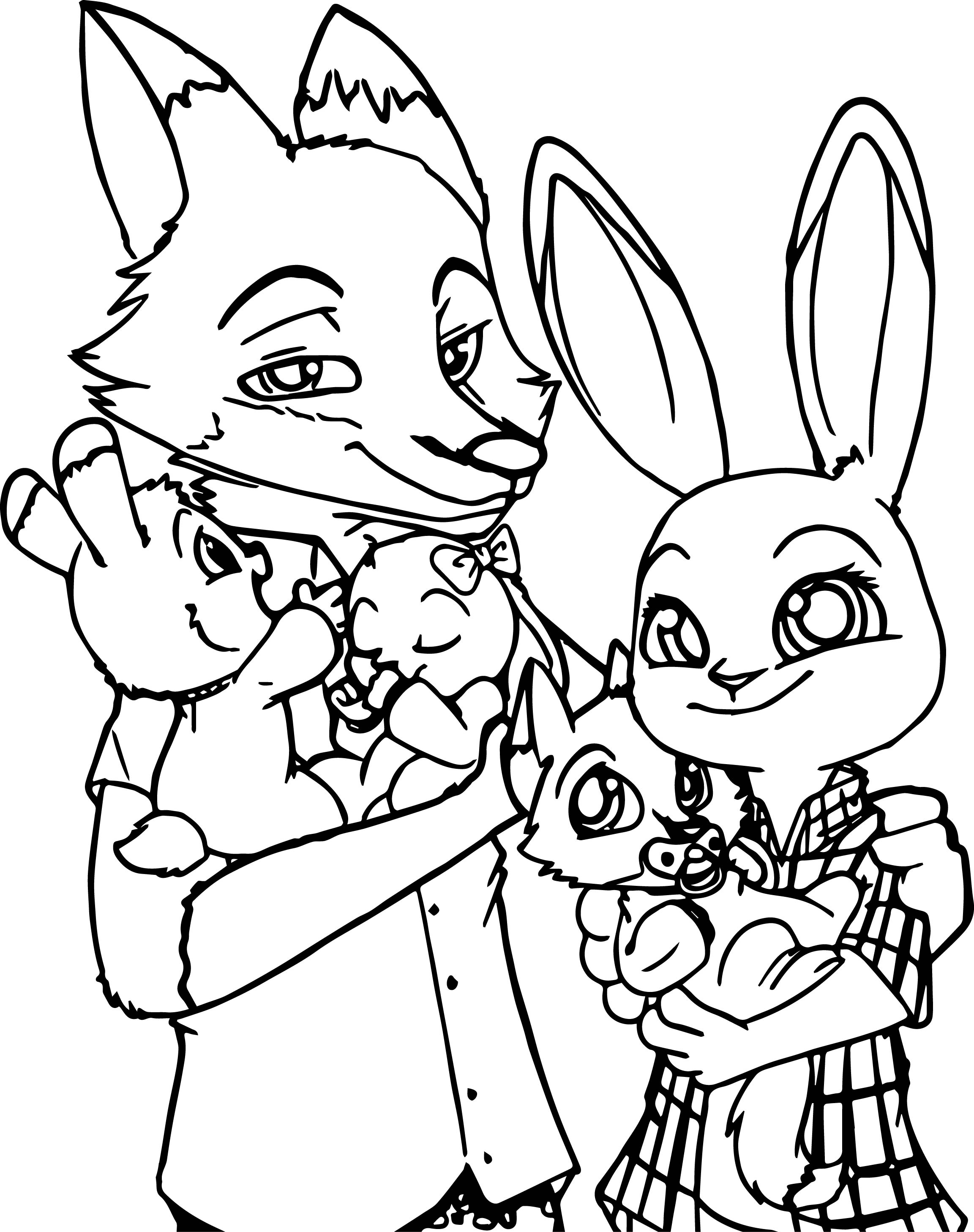 Coloring Pages Zootopia Free download best Coloring