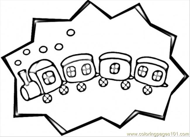 650x469 Caboose Coloring Page