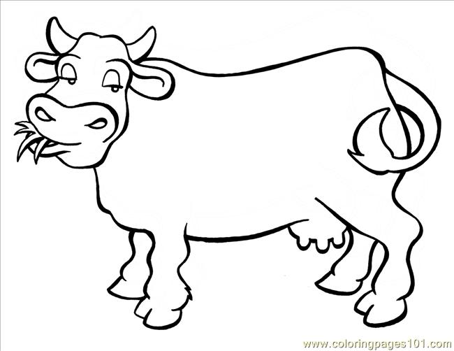 650x502 Cow Big Coloring Page