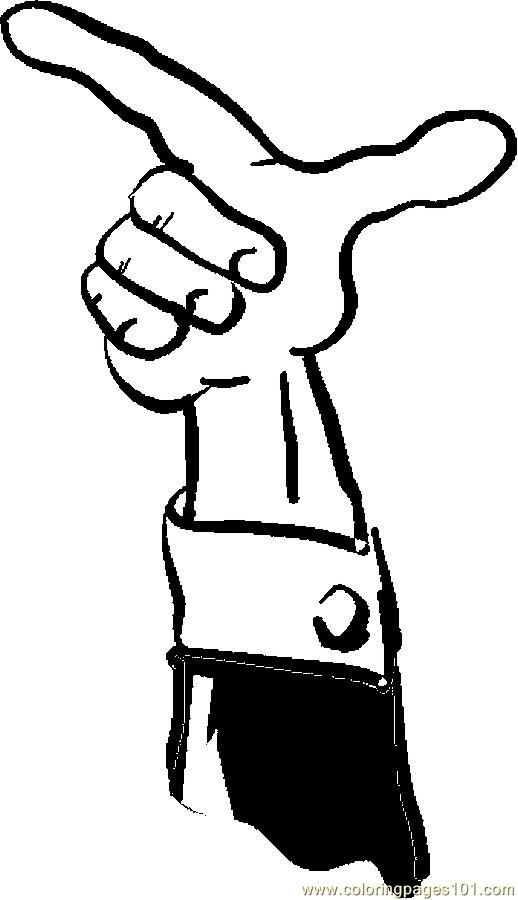 518x900 Finger Pointing 073 Coloring Page