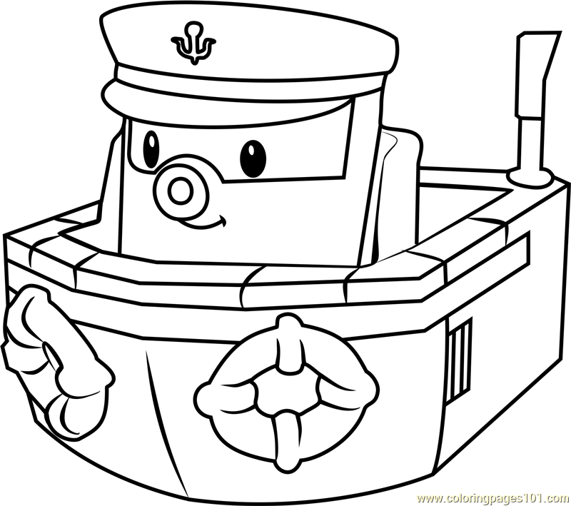 800x709 Marine Coloring Page