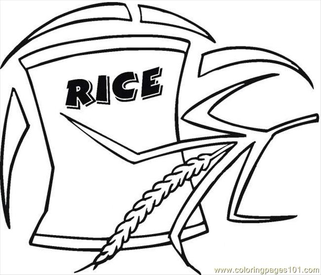 650x557 Rice 4 Coloring Page