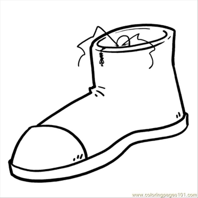 650x650 Shoes Coloring Page