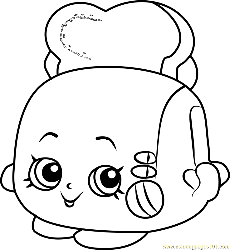 737x800 Toasty Pop Shopkins Coloring Page