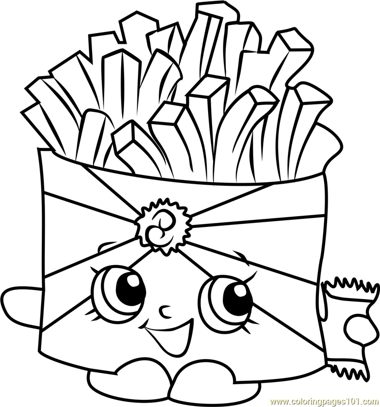 747x800 Wise Fry Shopkins Coloring Page