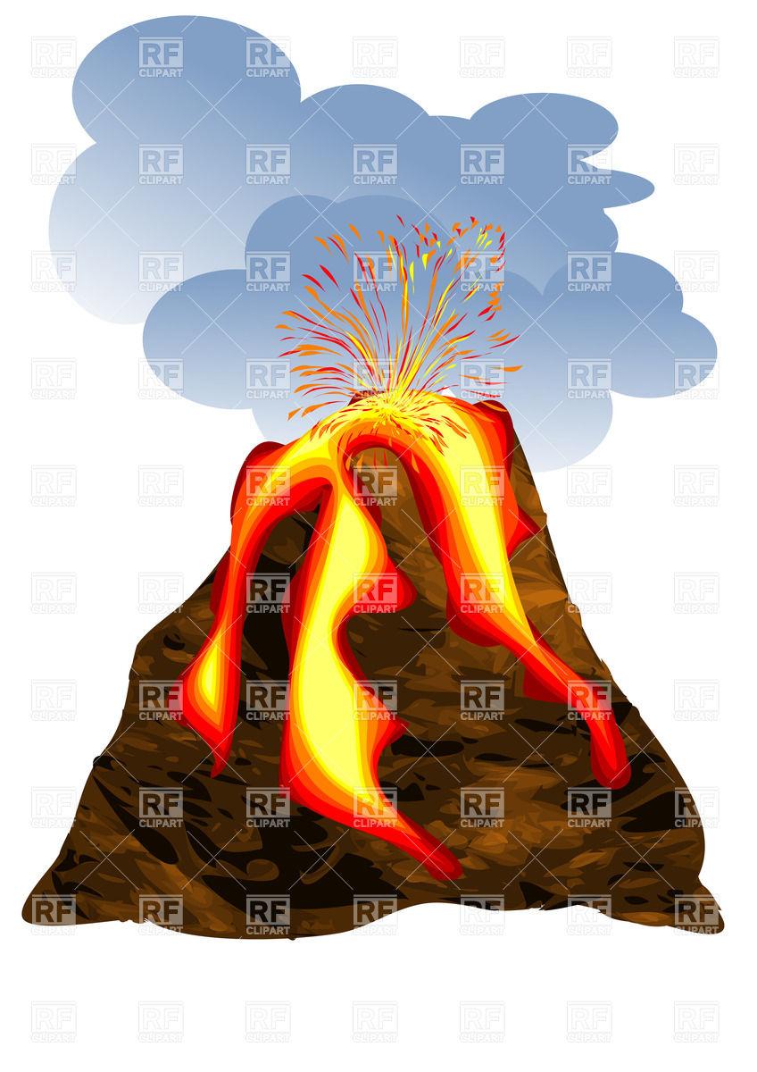 848x1200 Volcano Erupting